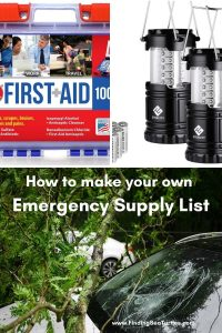 How to make your own Emergency Supply List #Emergency #EmergencySupplies #EmergencySupplyKit #FEMA