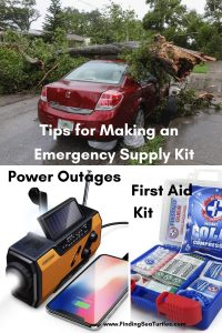 Tips for Making an Emergency Supply Kit Power Outages First Aid Kit #Emergency #EmergencySupplies #EmergencySupplyKit #FEMA