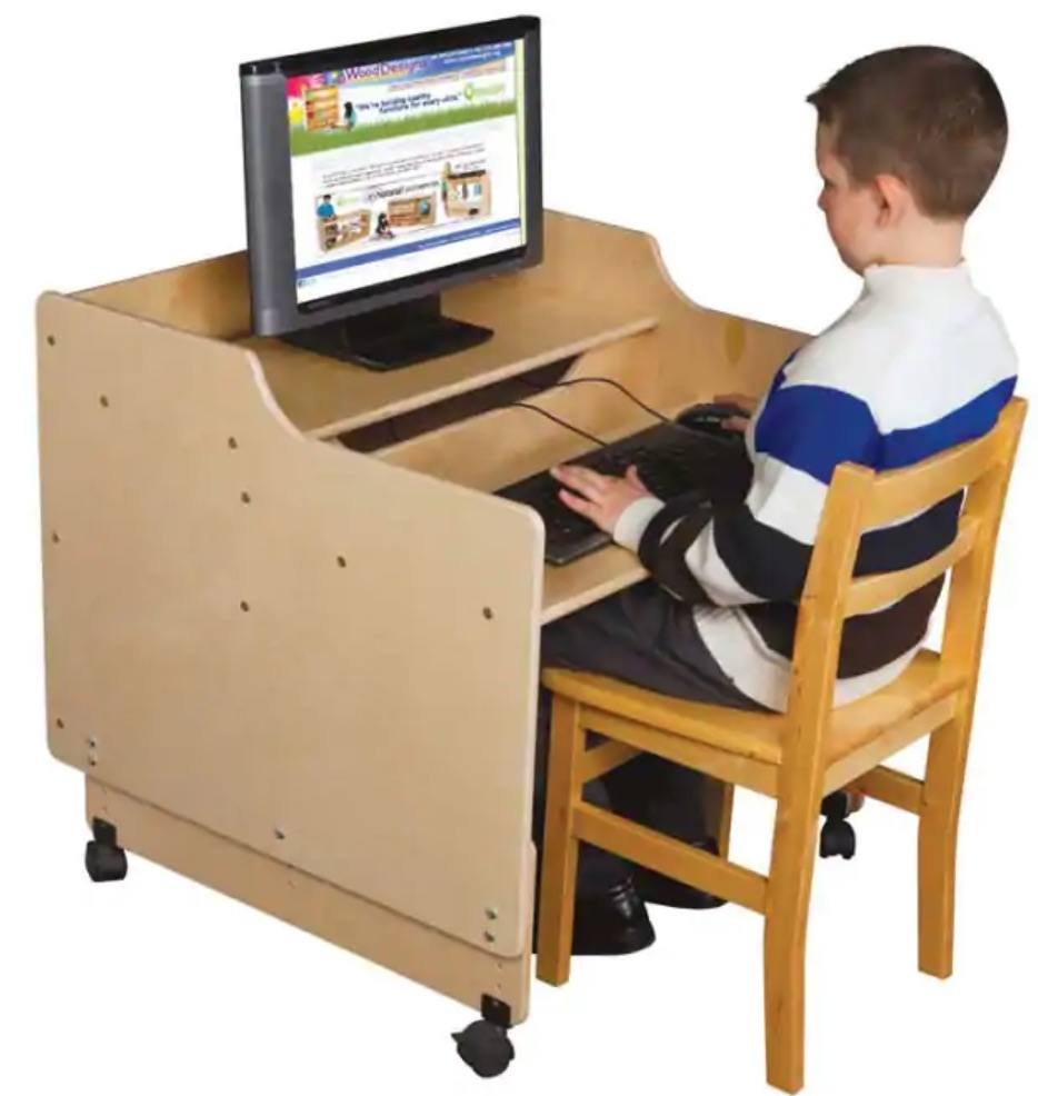 Best Kids Desks Contender Mobile Computer Desk #KidsDesk #StudyAtHome #Decor #HomeSchool #Homework