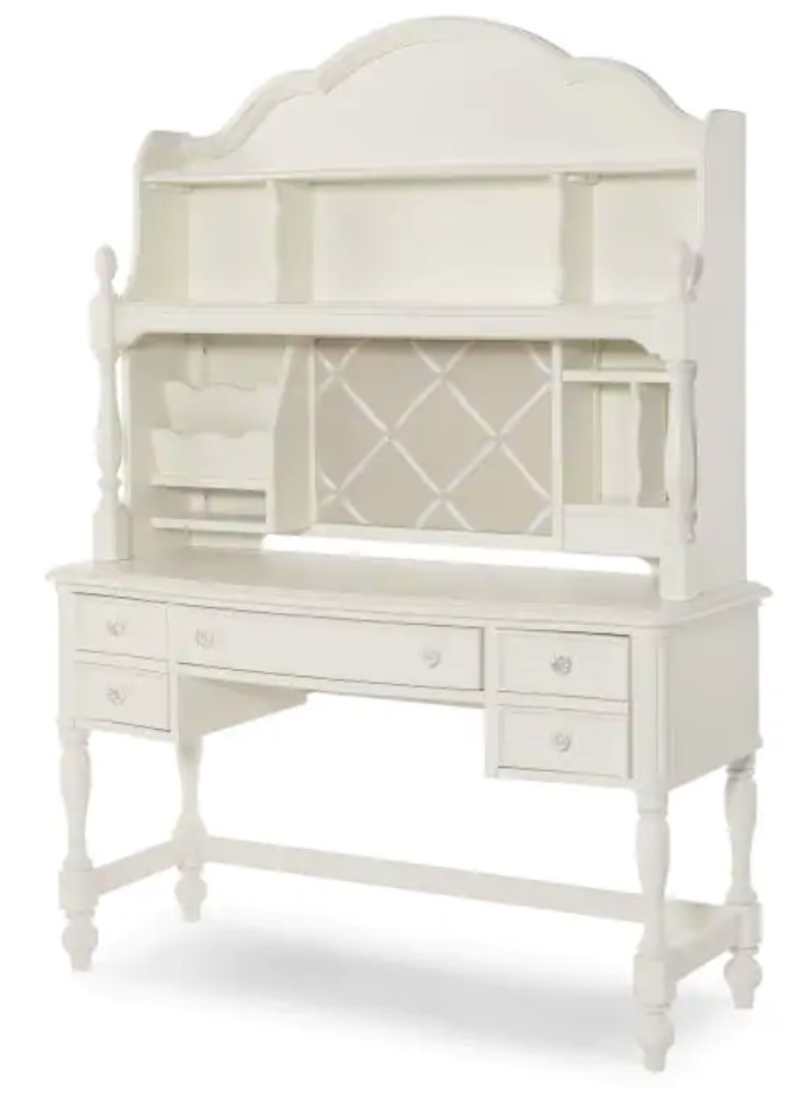 Study at Home Harmony Vanity or Desk with Hutch #KidsDesk #StudyAtHome #Decor #HomeSchool #Homework