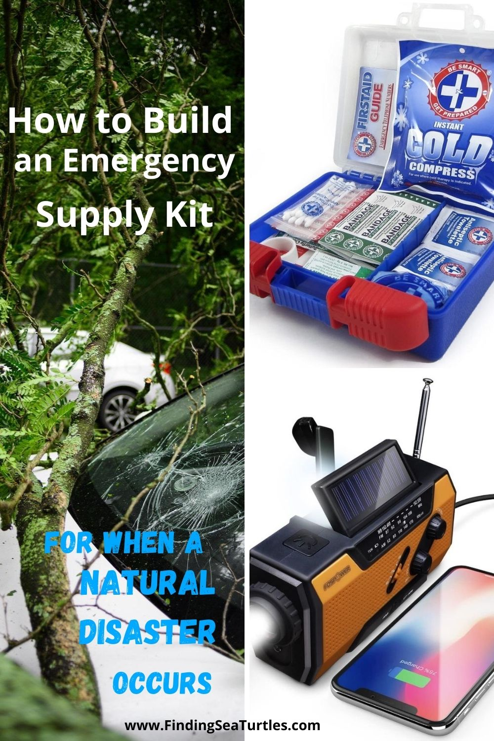 How to Build an Emergency Supply Kit for When a Natural Disaster Occurs #Emergency #EmergencySupplies #EmergencySupplyKit #FEMA