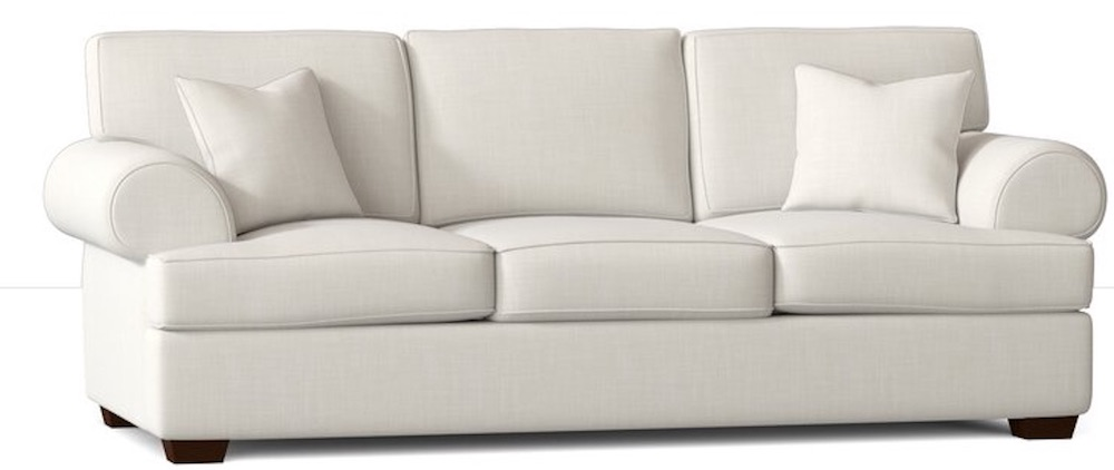 Best Sofa Beds for Cozy Nights 89 Inch Rolled Arm Sofa Bed #SleeperSofa #OvernightGuests #GuestRoom #SofaBed #FamilySleepovers #CompanyIsComing