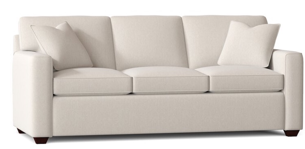 Stay Comfortable with the Lesley Square Arm Sofa Bed #SleeperSofa #OvernightGuests #GuestRoom #SofaBed #FamilySleepovers #CompanyIsComing