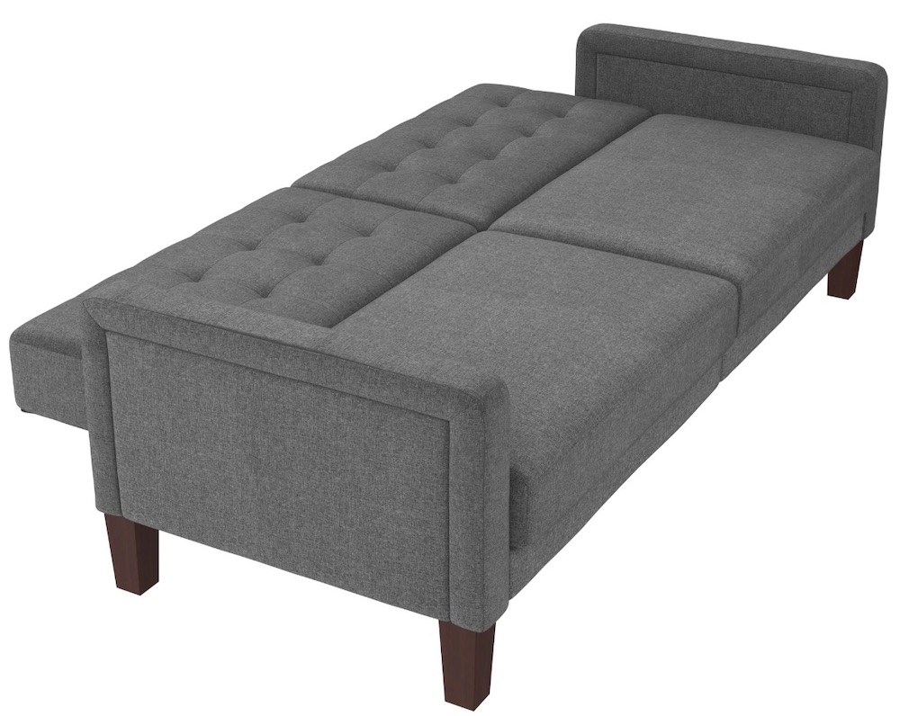 Accommodations for Two Porter Fabric Tufted Sofa Bed #SleeperSofa #OvernightGuests #GuestRoom #SofaBed #FamilySleepovers #CompanyIsComing