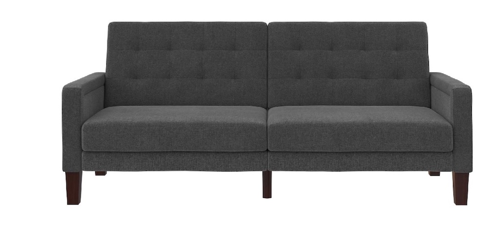 Overnight Guests Porter Fabric Tufted Sofa Bed #SleeperSofa #OvernightGuests #GuestRoom #SofaBed #FamilySleepovers #CompanyIsComing