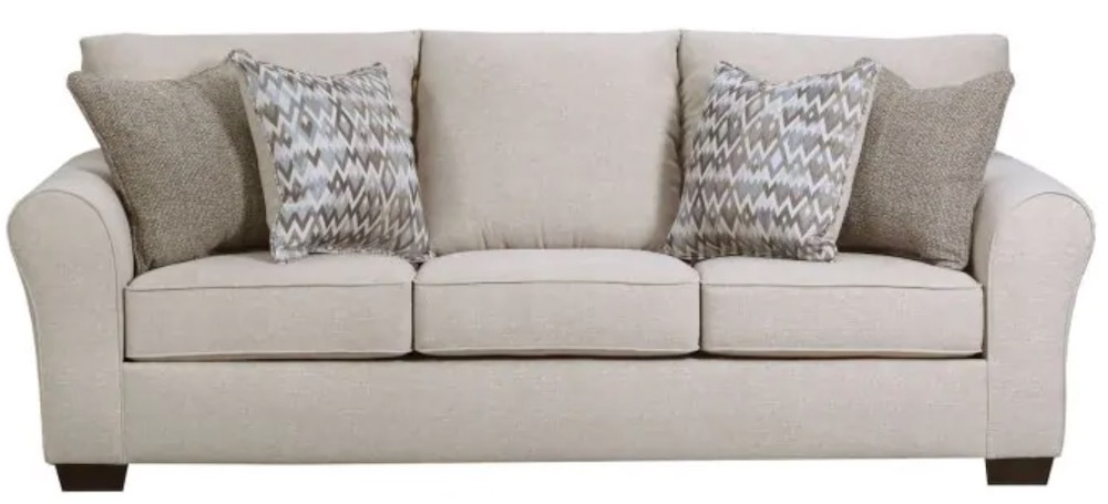 Keep Guests Warm in Simmons Boston Queen Sleeper #SleeperSofa #OvernightGuests #GuestRoom #SofaBed #FamilySleepovers #CompanyIsComing