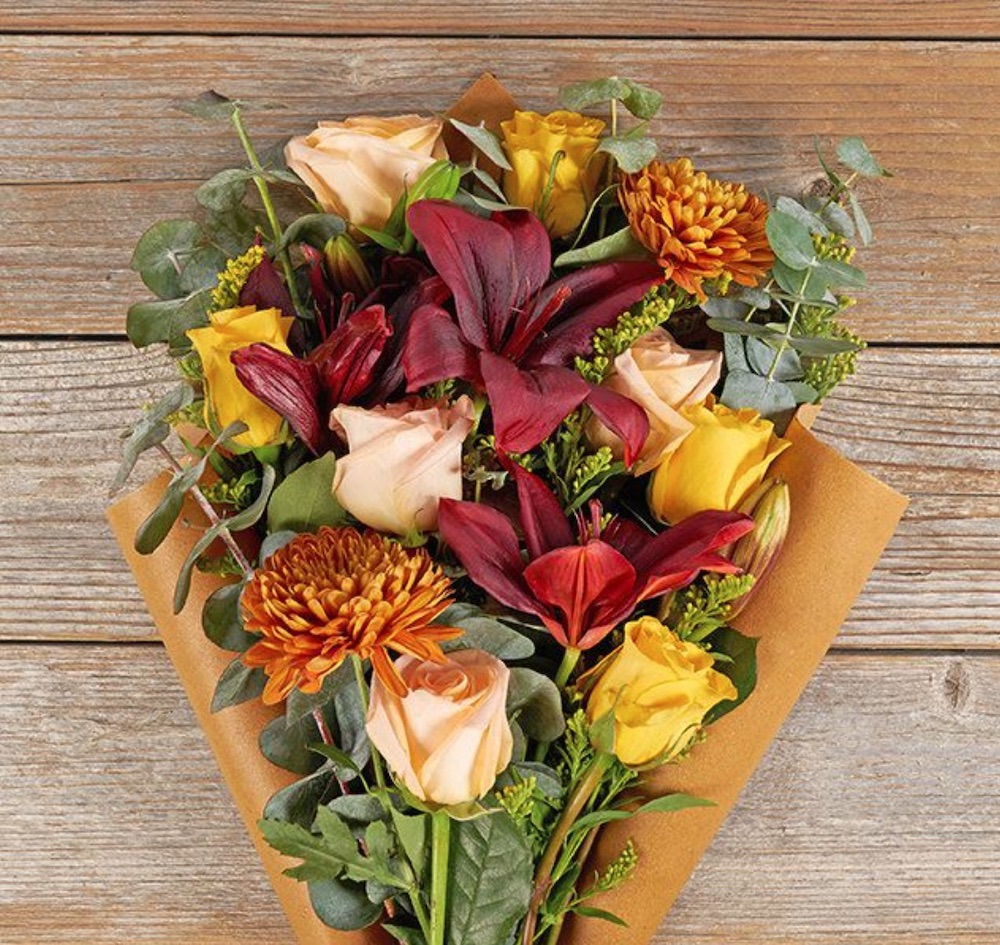 Fall Floral Bouquets Acorn Lane The Bouqs #FreshFlowers #flowerdelivery #bouquets #OnlineFlowers #FlowersOnline #AutumnFlowers #FallFlowers #ThanksgivingFlowers