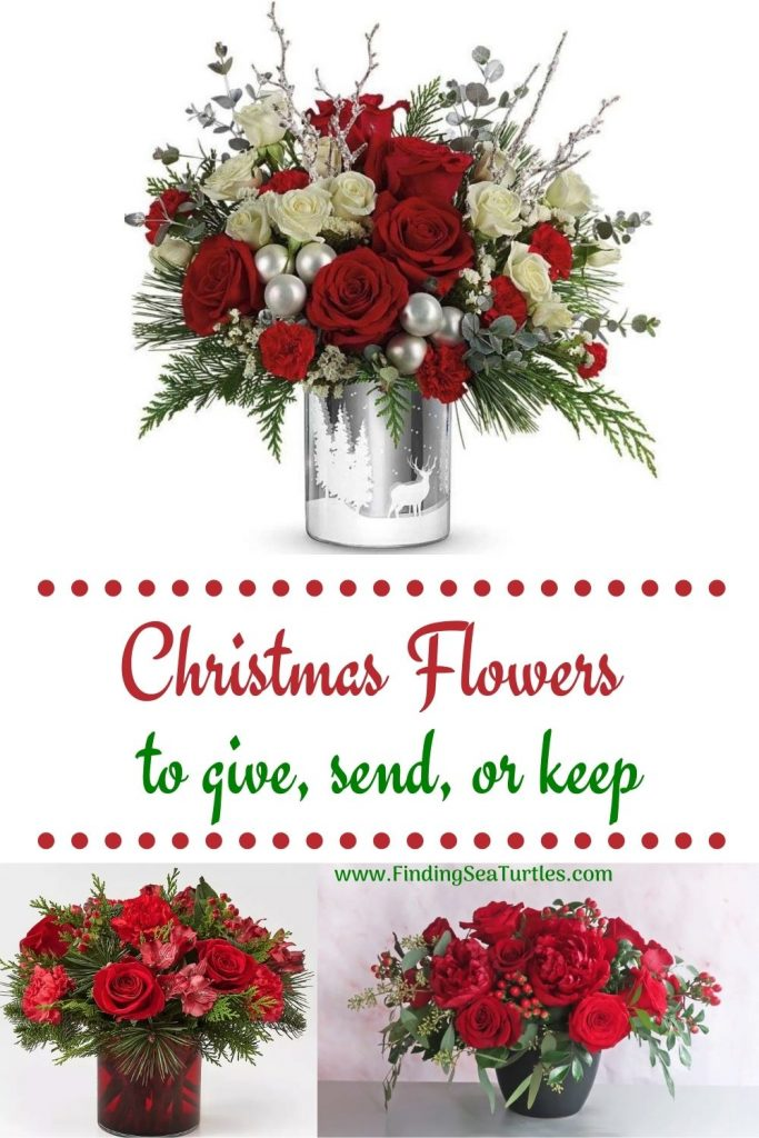 Christmas Flowers to Give Send or Keep #FreshFlowers #FlowerDelivery #bouquets #OnlineFlowers #FlowersOnline #Christmas #ChristmasFlowers #FestiveFlowers