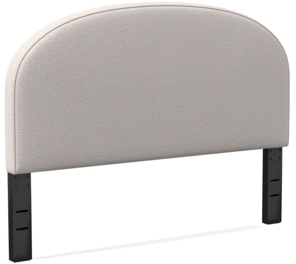 Easy Bedroom Refresh Curved Headboard #Headboards #UpholsteredHeadboards #GuestRoom #Bedroom #BedroomRefresh #BedroomUpgrade