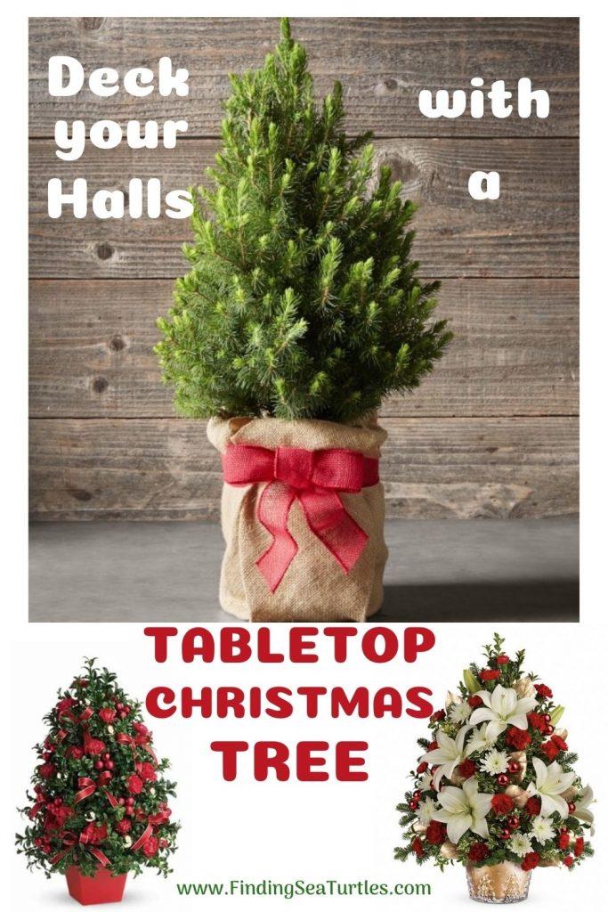 Fresh Tabletop Christmas Trees Deck Your Halls with a Tabletop Christmas Tree #FreshMiniTree #MiniChristmasTree #TabletopChristmasTree #OnlineFlowers #ChristmasTrees #ChristmasTabletopTree