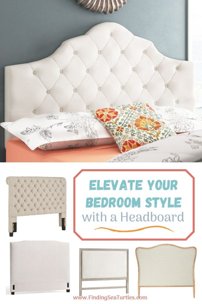 ELEVATE YOUR BEDROOM STYLE with a Headboard #Headboards #UpholsteredHeadboards #GuestRoom #Bedroom #BedroomRefresh #BedroomUpgrade