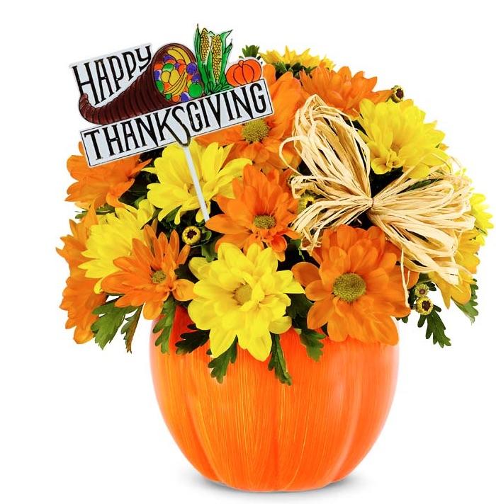 Best Online Thanksgiving Flowers Happy Thanksgiving Daisy Pumpkin Patch #FreshFlowers #flowerdelivery #bouquets #OnlineFlowers #FlowersOnline #AutumnFlowers #FallFlowers #ThanksgivingFlowers