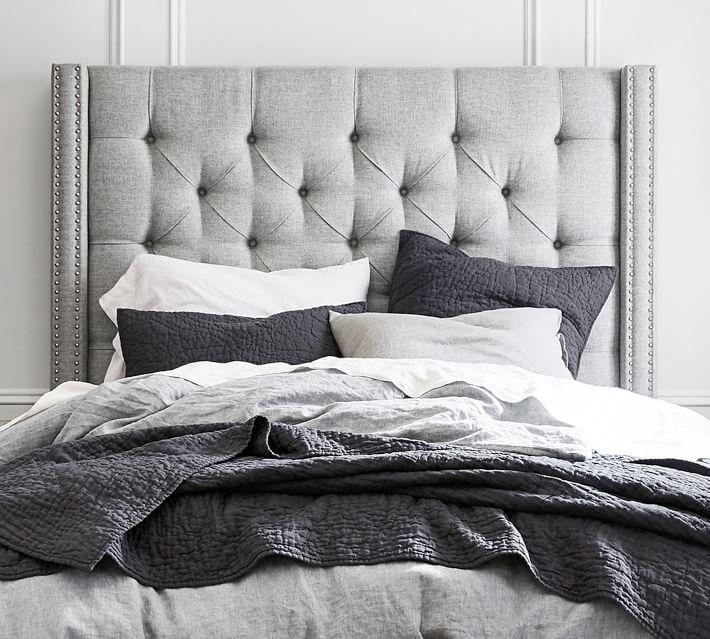 Best Upholstered Headboards for Comfort Harper Tufted Upholstered Tall Headboard #Headboards #UpholsteredHeadboards #GuestRoom #Bedroom #BedroomRefresh #BedroomUpgrade