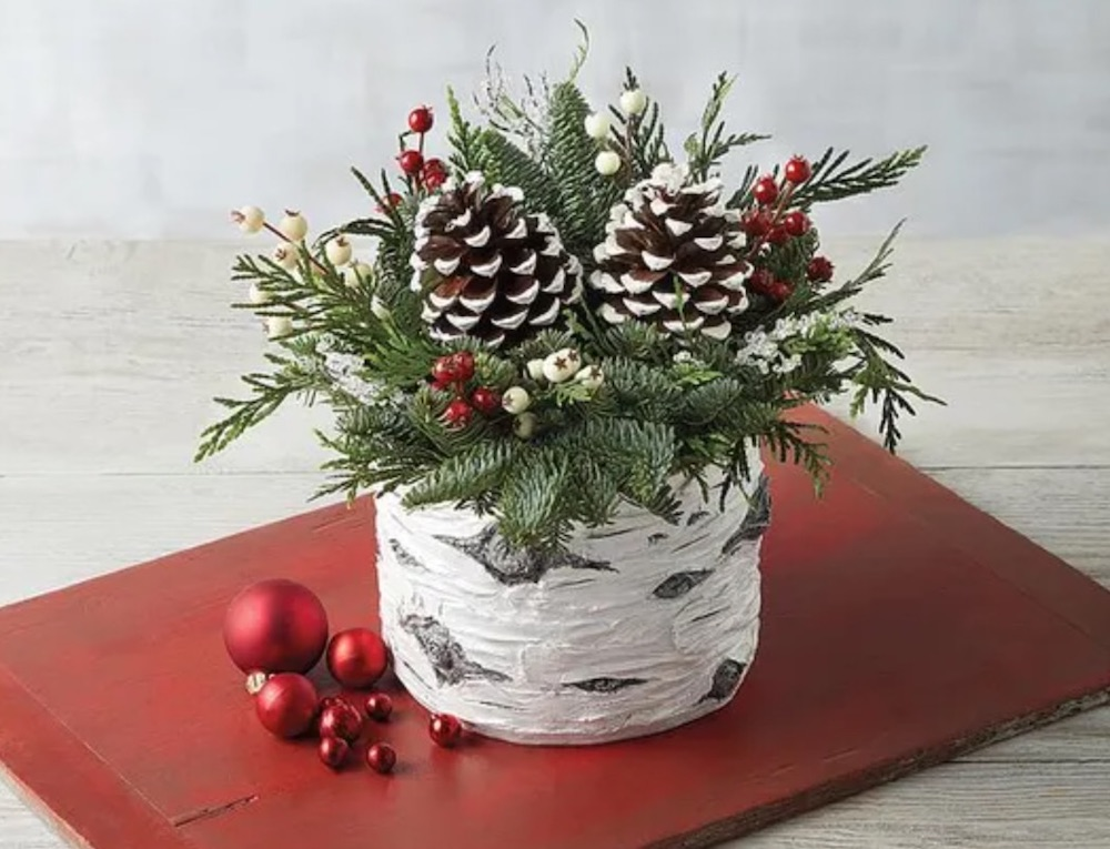 Best Fresh Christmas Centerpieces Holiday Birch Centerpiece by Harry and David #FreshFlowers #flowerdelivery #Centerpiece #OnlineFlowers #FlowersOnline #ChristmasCenterpieces #ChristmasTableCenterpiece #ChristmasFlowers