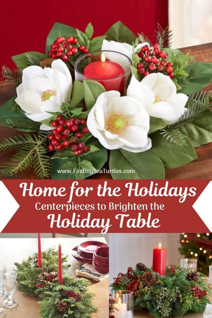 Fresh Christmas Centerpieces Home for the Holidays Centerpieces to Brighten the Holiday Table #FreshFlowers #flowerdelivery #Centerpiece #OnlineFlowers #FlowersOnline #ChristmasCenterpieces #ChristmasTableCenterpiece #ChristmasFlowers