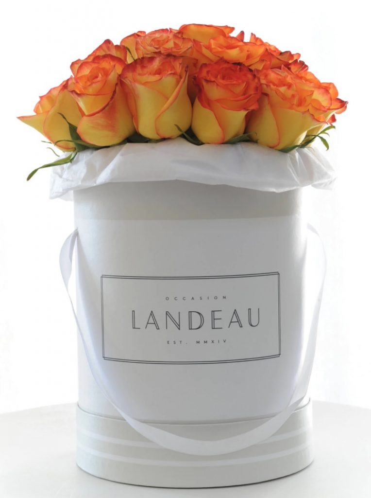 The Autumn Home Luxem - 25 Roses in Our Branded Box by Landeau #FreshFlowers #flowerdelivery #bouquets #OnlineFlowers #FlowersOnline #AutumnFlowers #FallFlowers #ThanksgivingFlowers