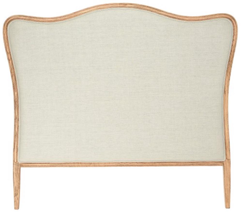 Country Farmhouse Style Oak Linen Headboard #Headboards #UpholsteredHeadboards #GuestRoom #Bedroom #BedroomRefresh #BedroomUpgrade