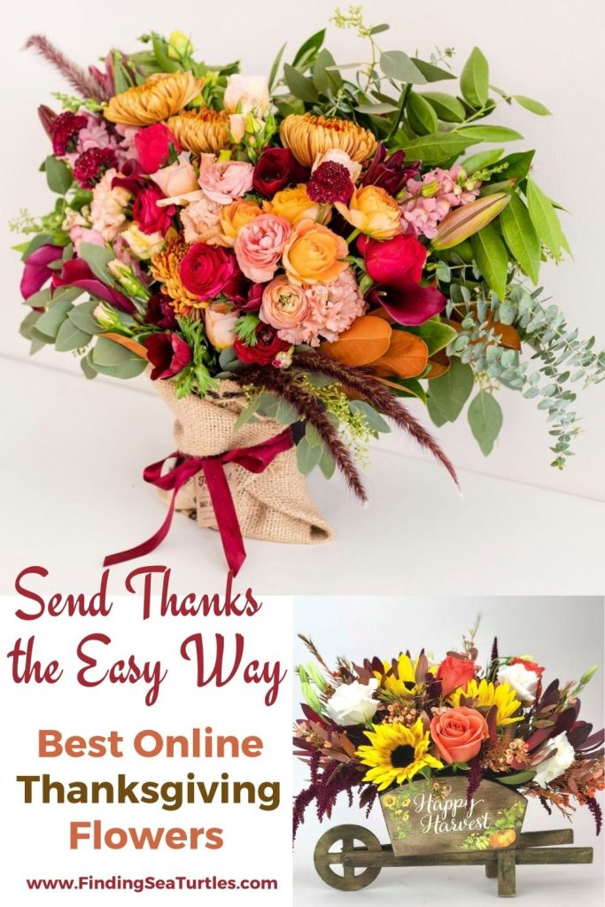 Send Thanks the Easy Way Best Online Thanksgiving Flowers #FreshFlowers #flowerdelivery #bouquets #OnlineFlowers #FlowersOnline #AutumnFlowers #FallFlowers #ThanksgivingFlowers