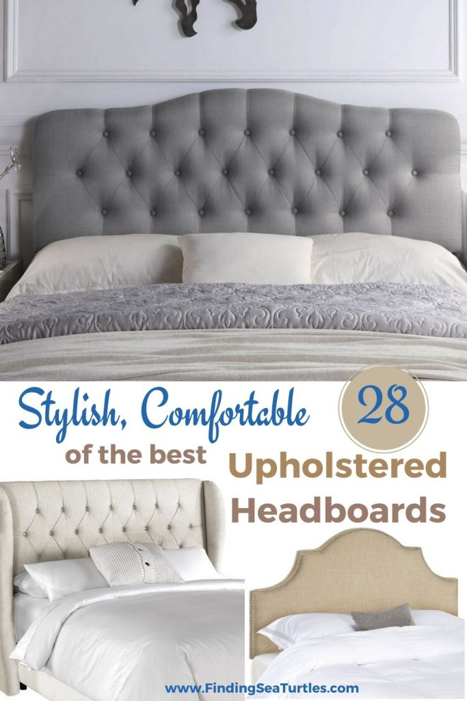 Stylish Comfortable 28 of the best Upholstered Headboards #Headboards #UpholsteredHeadboards #GuestRoom #Bedroom #BedroomRefresh #BedroomUpgrade