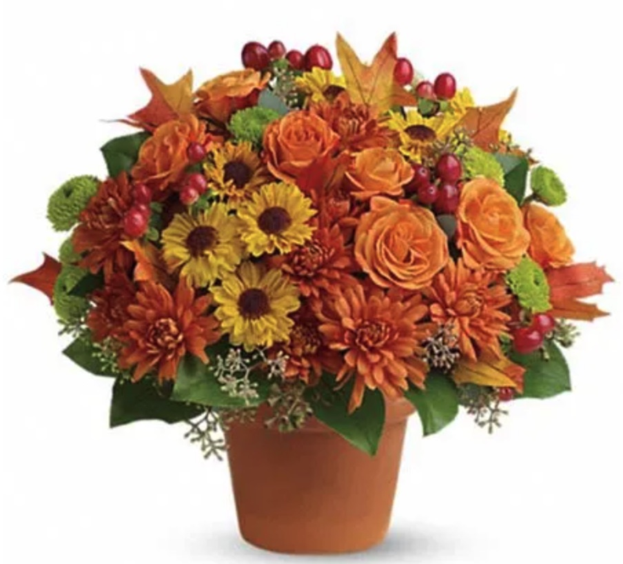Autumn Inspired Decor Sugar Maples Mixed Bouquet by Send Flowers #FreshFlowers #flowerdelivery #bouquets #OnlineFlowers #FlowersOnline #AutumnFlowers #FallFlowers #ThanksgivingFlowers