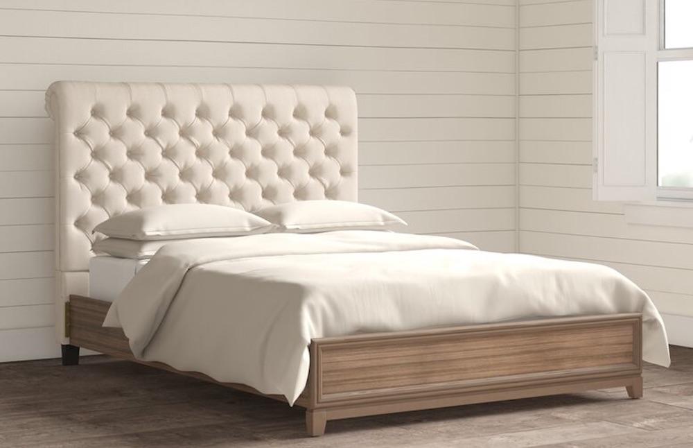 Farmhouse Style Bedroom Virgil Panel Headboard #Headboards #UpholsteredHeadboards #GuestRoom #Bedroom #BedroomRefresh #BedroomUpgrade