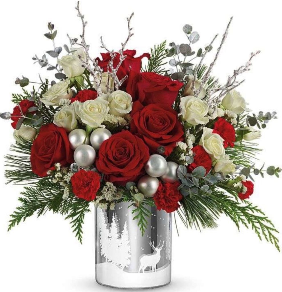 Best Online Christmas Flowers Wintry Wishes Bouquet by Kremp Florist #FreshFlowers #FlowerDelivery #bouquets #OnlineFlowers #FlowersOnline #Christmas #ChristmasFlowers #FestiveFlowers