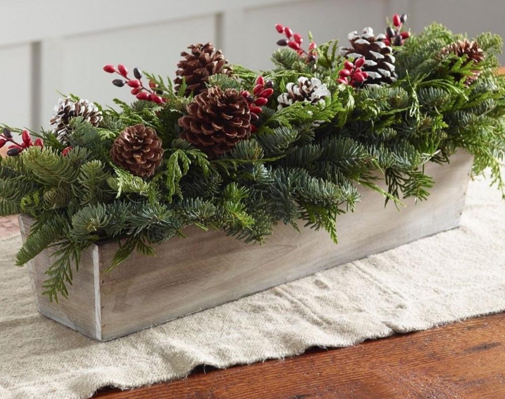 Celebrate the Christmas Season Woodland Berry Runner Centerpiece by LLBean #FreshFlowers #flowerdelivery #Centerpiece #OnlineFlowers #FlowersOnline #ChristmasCenterpieces #ChristmasTableCenterpiece #ChristmasFlowers