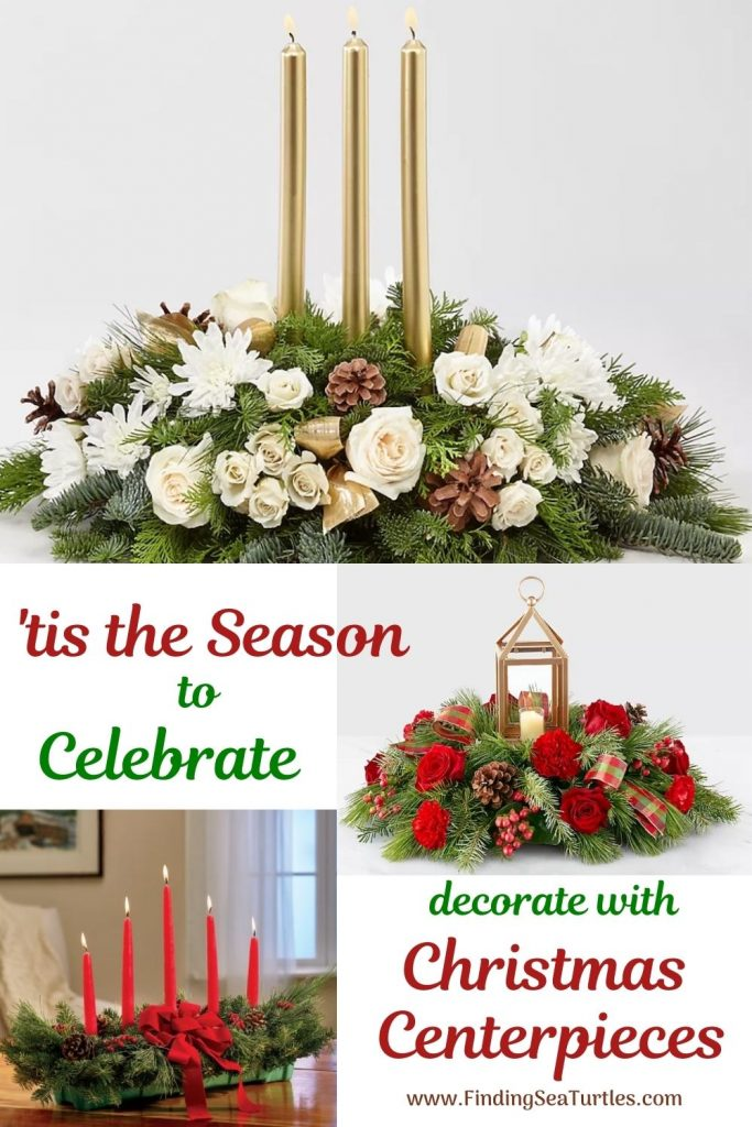 tis the Season to Celebrate decorate with Christmas Centerpieces #FreshFlowers #flowerdelivery #Centerpiece #OnlineFlowers #FlowersOnline #ChristmasCenterpieces #ChristmasTableCenterpiece #ChristmasFlowers