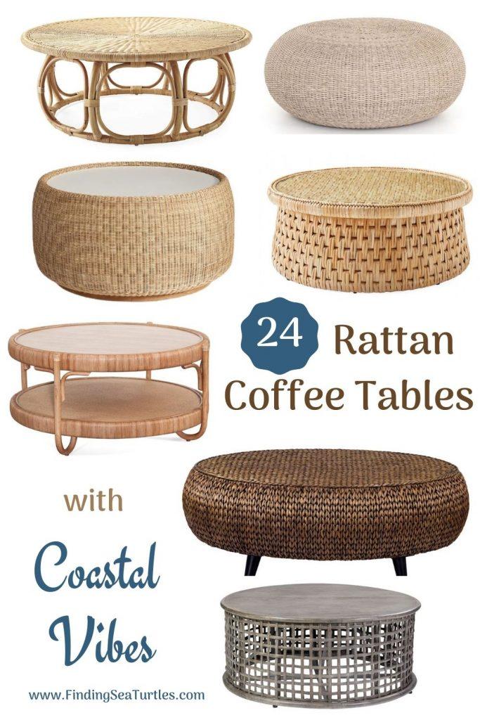 24 Rattan Coffee Tables with Coastal Vibes #CoffeeTable #Coastal #RattanCoffeeTables #BeachHome #CoastalDecor #CoastalFurniture #Seaside