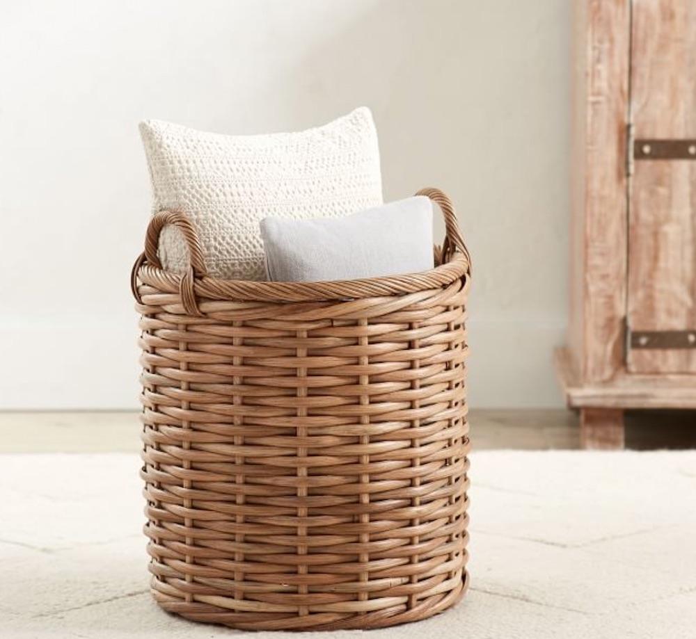 Storage Needs Aubrey Woven Tote #Storage #Baskets #BasketStorage #ToteBaskets #HomeStorage #Organization #ATidyHome