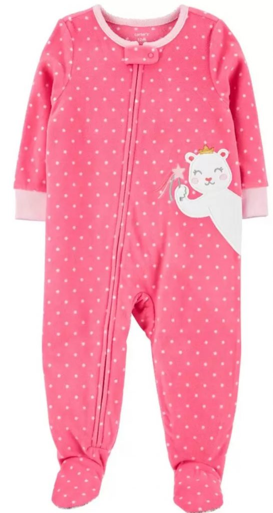 For the Pink Loving Little Girl Bear Fleece Footie PJs #Christmas #ChristmasGifts #GiftIdeas #ChristmasPresents #ChristmasGiftGiving