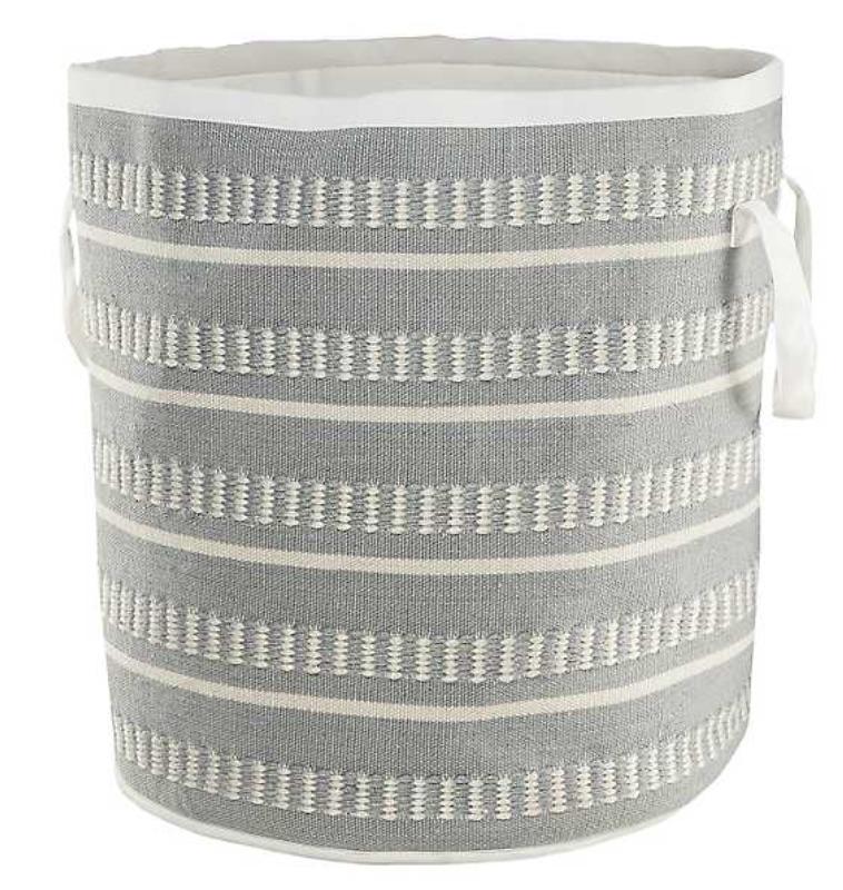 Tote Baskets Blue Dash Stripe Storage Basket #Storage #Baskets #BasketStorage #ToteBaskets #HomeStorage #Organization #ATidyHome
