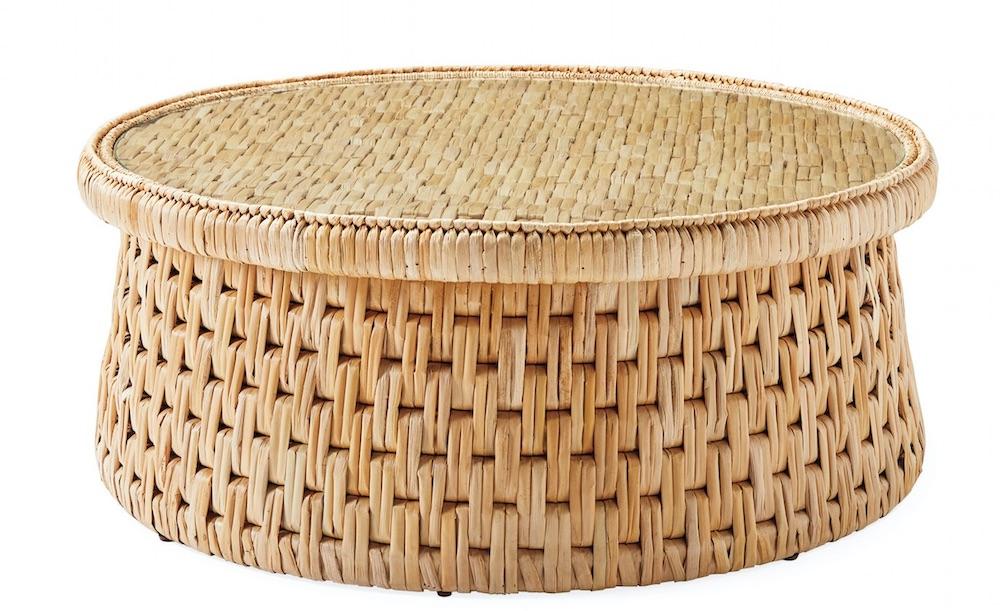 Tropical Style Cape Coffee Table #CoffeeTable #Coastal #RattanCoffeeTables #BeachHome #CoastalDecor #CoastalFurniture #Seaside