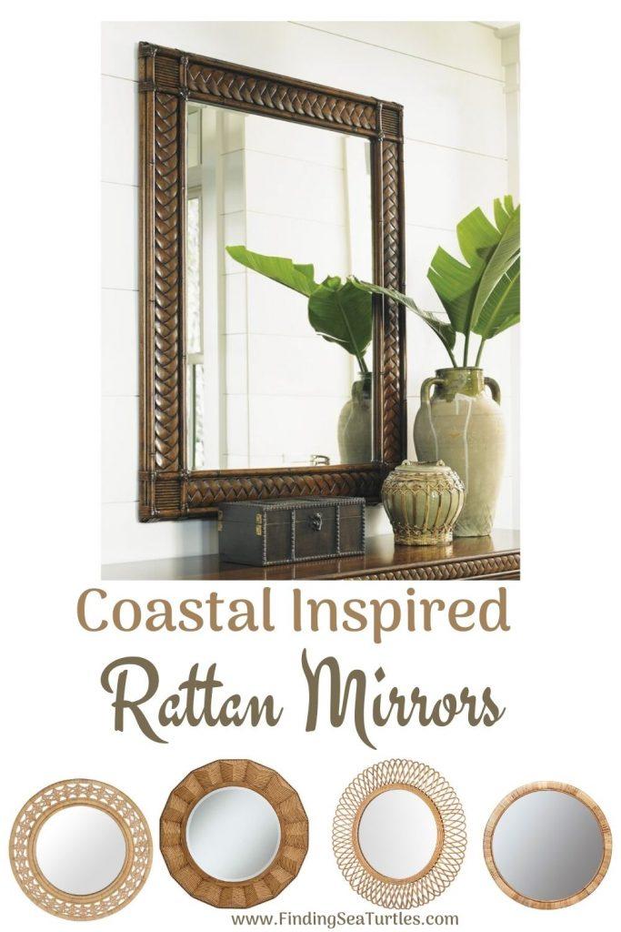 Coastal Inspired Rattan Mirrors #Mirrors #Coastal #RattanMirrors #BeachHome #CoastalDecor #CoastalFurniture #Seaside #Tropical #Island