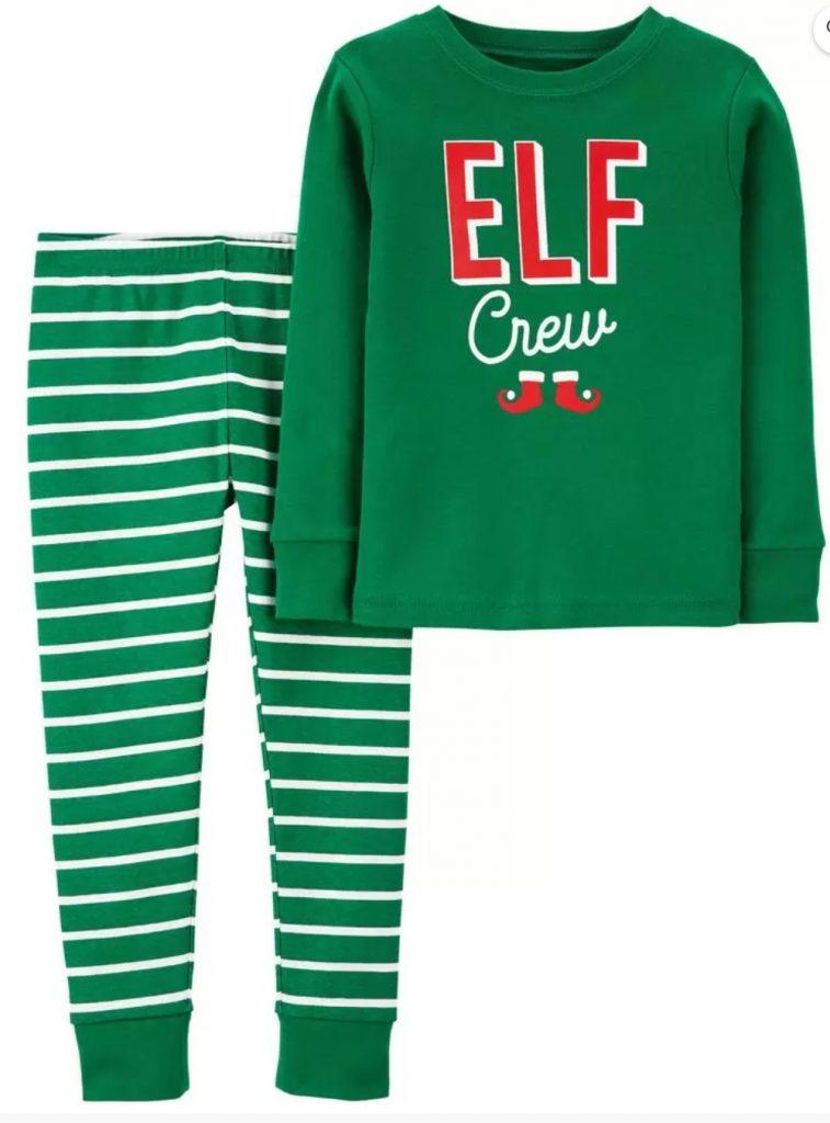 Christmas Gift Ideas Elf Crew Cotton PJs #Christmas #ChristmasGifts #GiftIdeas #ChristmasPresents #ChristmasGiftGiving
