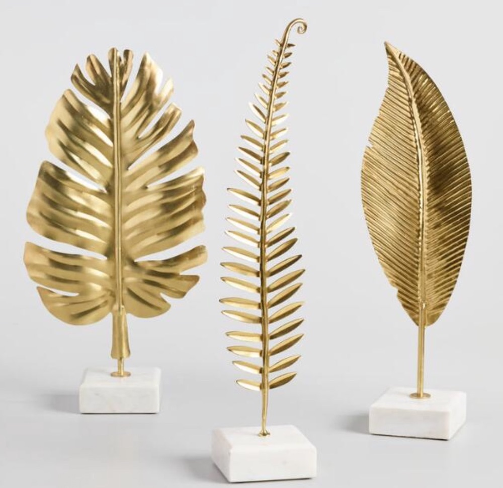 For Glam Loving Friend Gold Leaf On Marble Stand Decor #Christmas #ChristmasGifts #GiftIdeas #ChristmasPresents #ChristmasGiftGiving