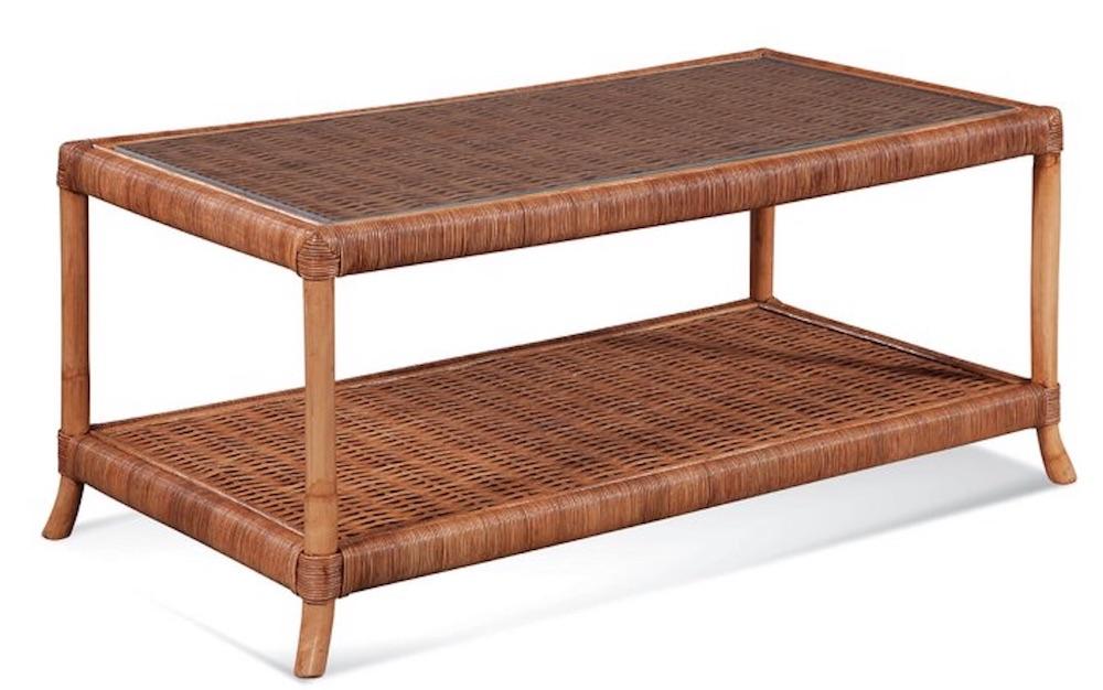 Rattan Coffee Tables Lafayette Coffee Table with Storage #CoffeeTable #Coastal #RattanCoffeeTables #BeachHome #CoastalDecor #CoastalFurniture #Seaside