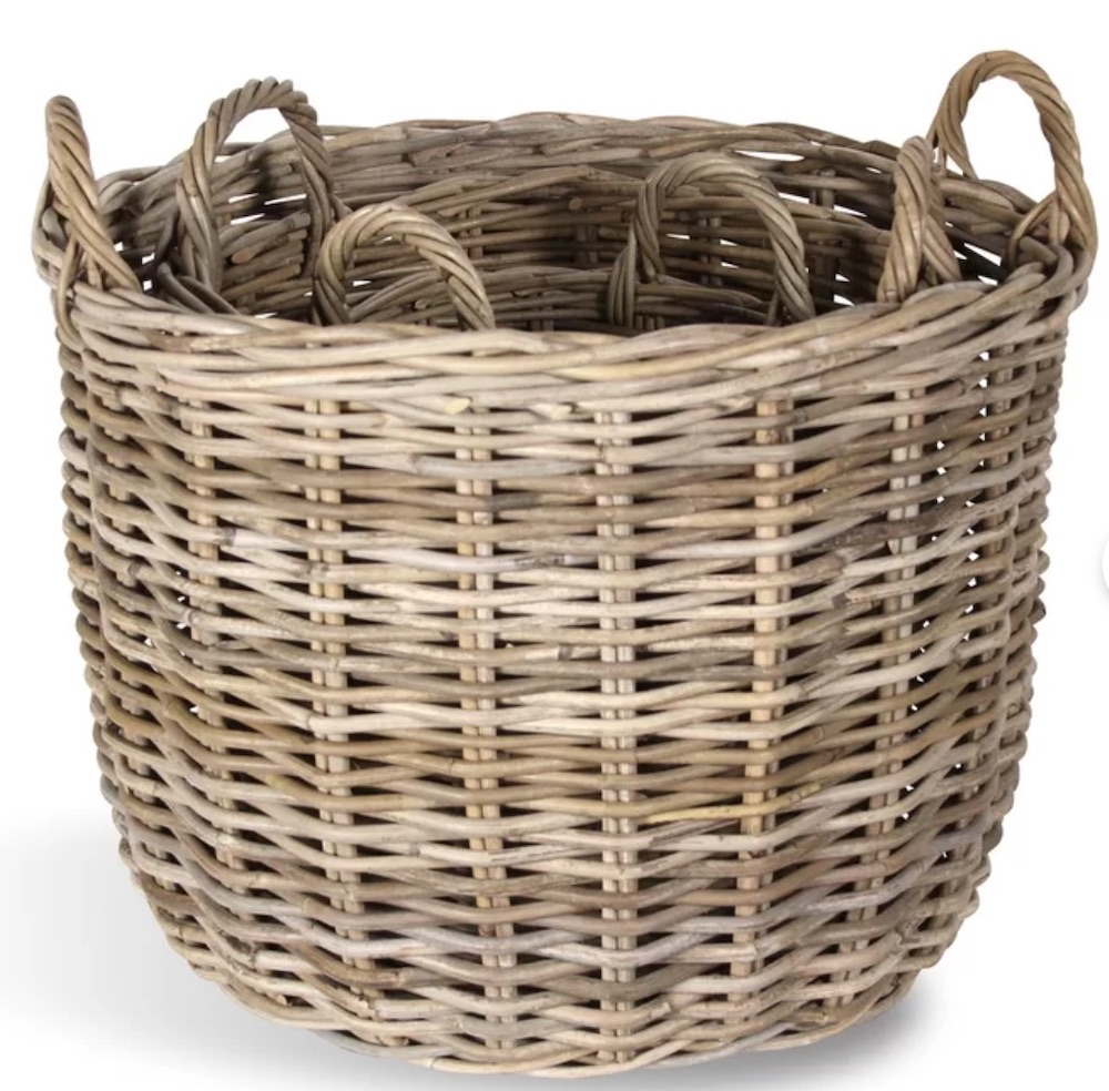 A Place for Everything Morgan Rattan Basket #Storage #Baskets #BasketStorage #ToteBaskets #HomeStorage #Organization #ATidyHome