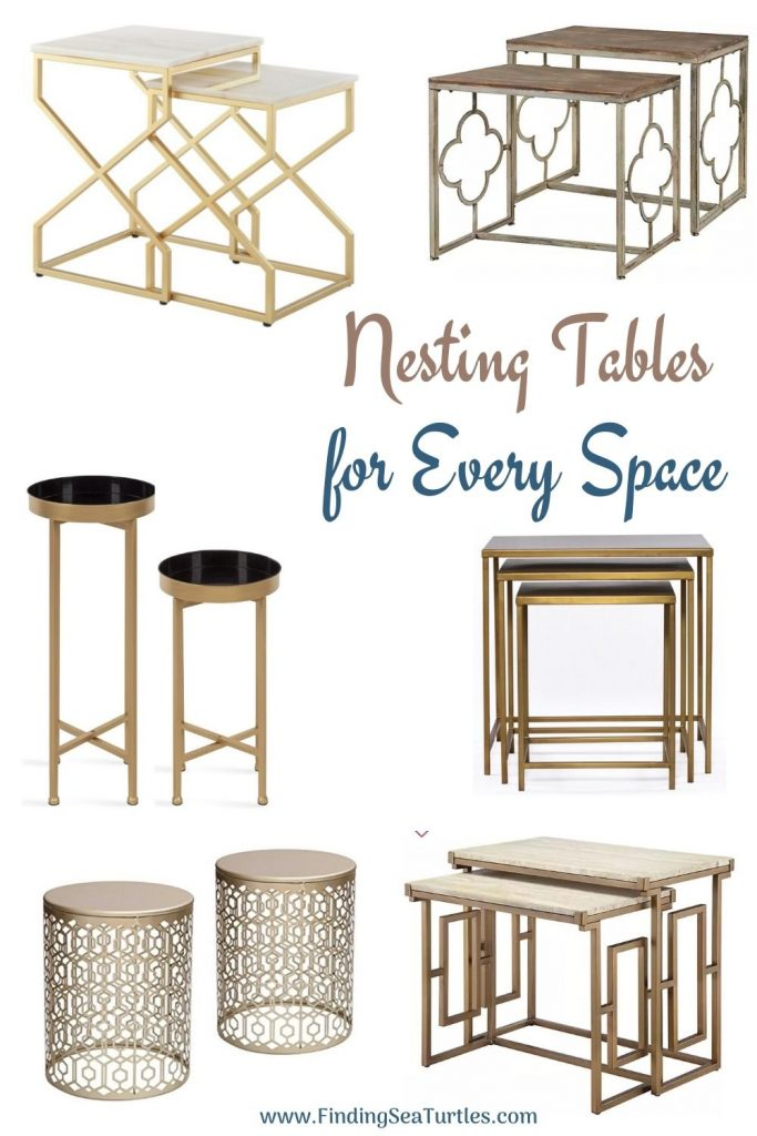 Nesting Tables for Every Space #NestingTables #SmallTables #SideTables #SmallSpaces #SmallSpaceLiving