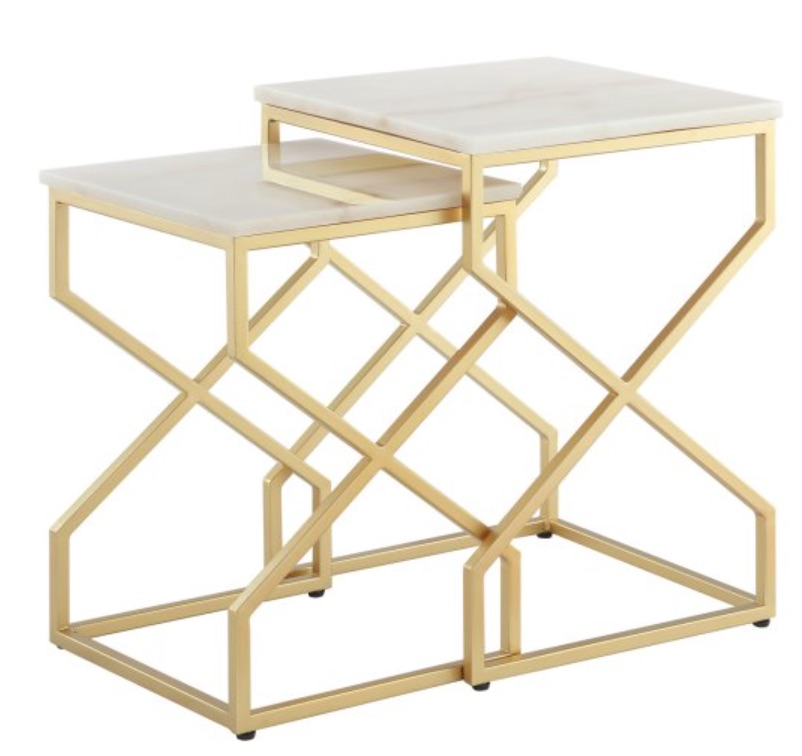 Small Space Living Raquel End Table #NestingTables #SmallTables #SideTables #SmallSpaces #SmallSpaceLiving