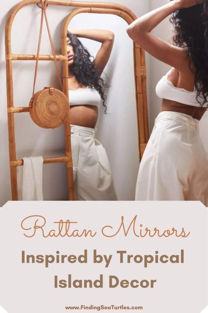 Beach Home Decor Rattan Mirrors Inspired by Tropical Island Decor #Mirrors #Coastal #RattanMirrors #BeachHome #CoastalDecor #CoastalFurniture #Seaside #Tropical #Island