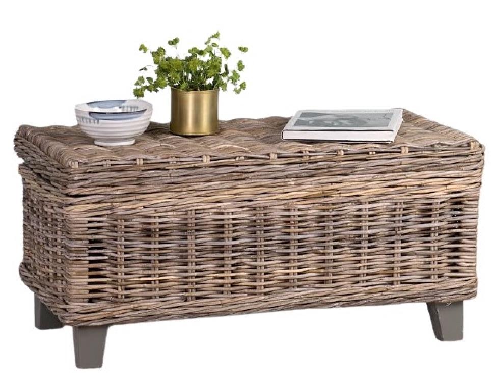 Coastal Style Rattan Storage Coffee Table #CoffeeTable #Coastal #RattanCoffeeTables #BeachHome #CoastalDecor #CoastalFurniture #Seaside