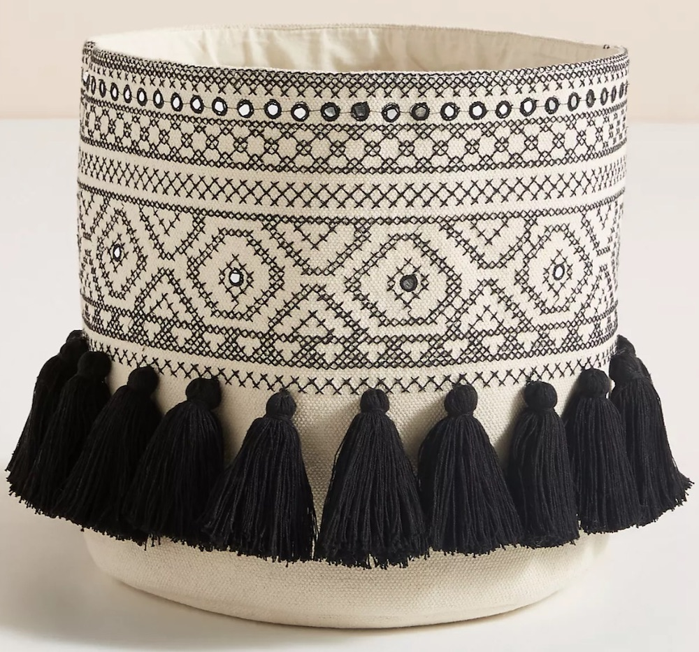 Bohemian Decor Renata Basket #Storage #Baskets #BasketStorage #ToteBaskets #HomeStorage #Organization #ATidyHome