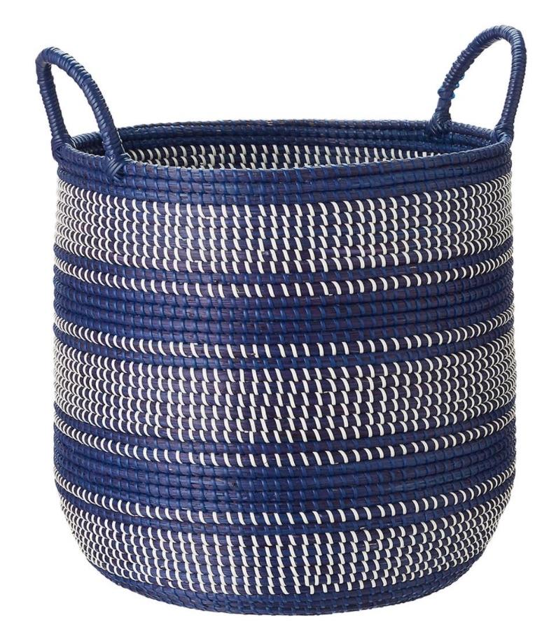 Tote Baskets Round Seagrass Bin with Handles #Storage #Baskets #BasketStorage #ToteBaskets #HomeStorage #Organization #ATidyHome