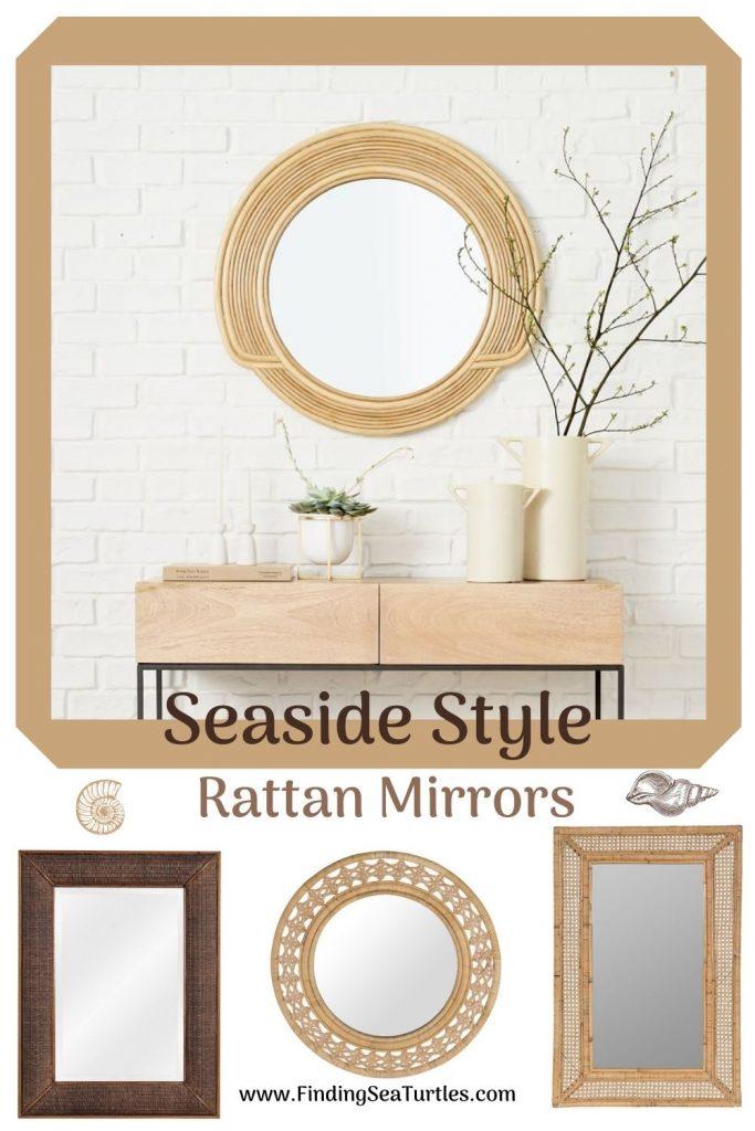 Rattan Mirrors for the Home Seaside Style Rattan Mirrors #Mirrors #Coastal #RattanMirrors #BeachHome #CoastalDecor #CoastalFurniture #Seaside #Tropical #Island