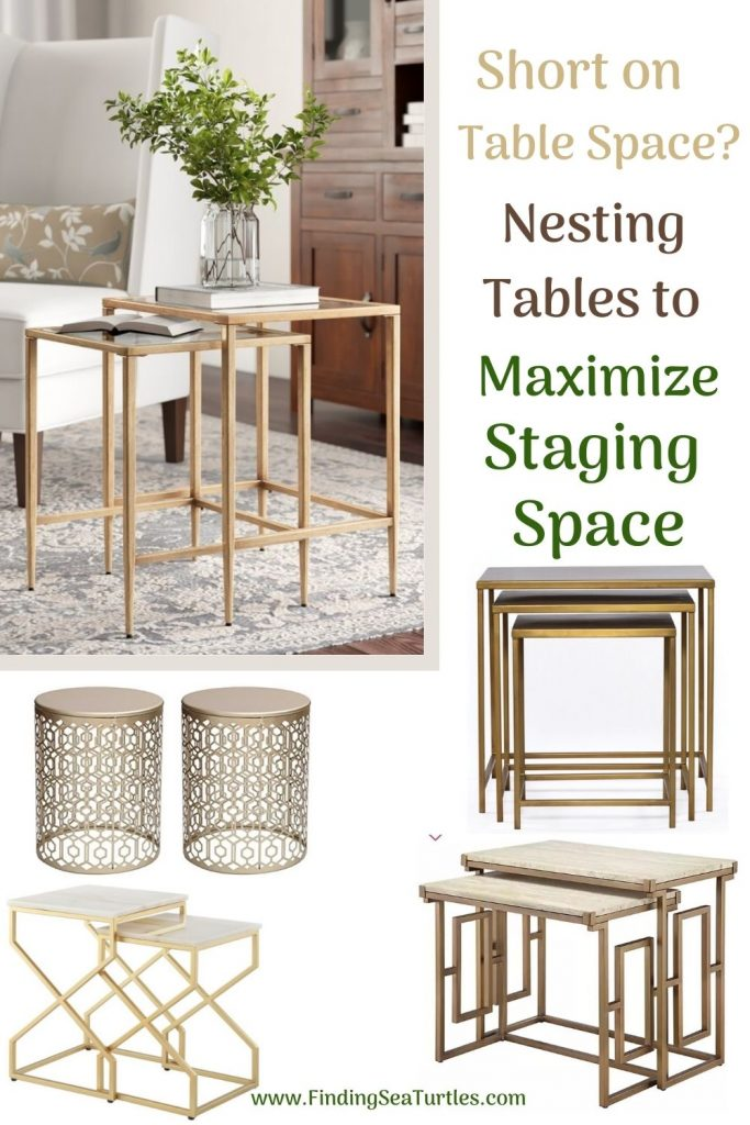 Short on Table Space Nesting Tables to Maximize Staging Space #NestingTables #SmallTables #SideTables #SmallSpaces #SmallSpaceLiving