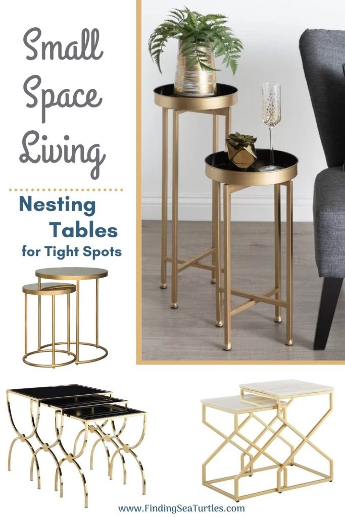 Small Space Living Nesting Tables for Tight Spots #NestingTables #SmallTables #SideTables #SmallSpaces #SmallSpaceLiving