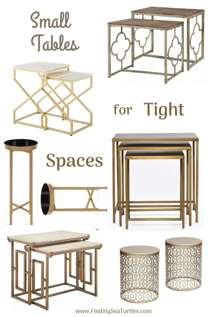 Nesting Tables Small Tables for Tight Spaces #NestingTables #SmallTables #SideTables #SmallSpaces #SmallSpaceLiving