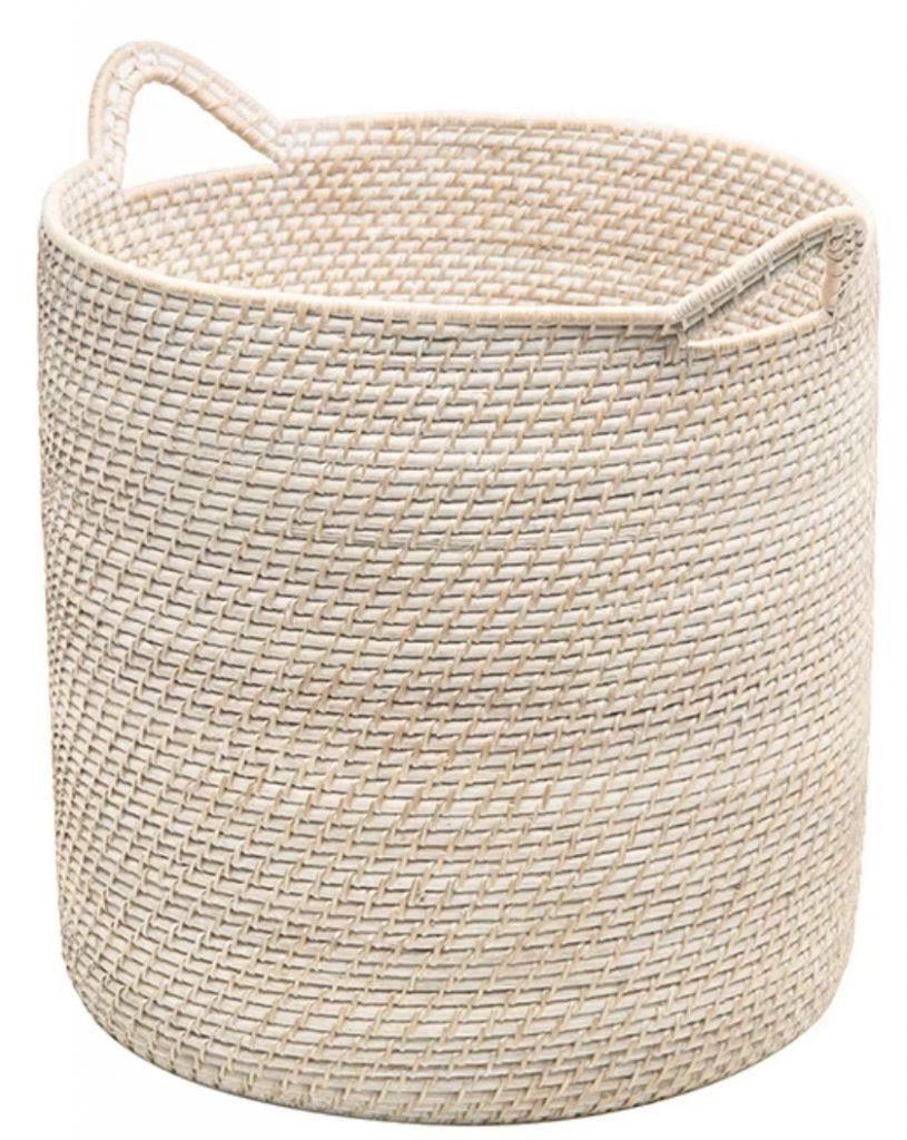 Simple Storage Solutions Stretford Rattan Basket #Storage #Baskets #BasketStorage #ToteBaskets #HomeStorage #Organization #ATidyHome