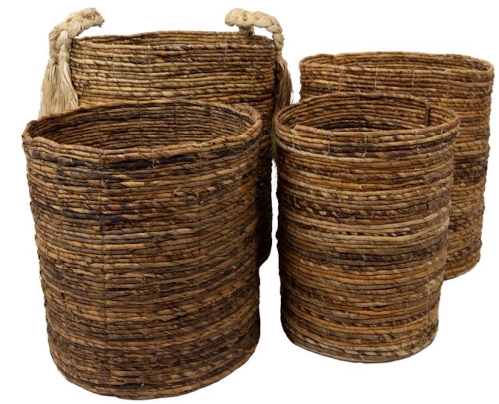 Tote Baskets Wicker Basket Set #Storage #Baskets #BasketStorage #ToteBaskets #HomeStorage #Organization #ATidyHome